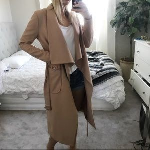 White Fox Boutique tan trench coat XS